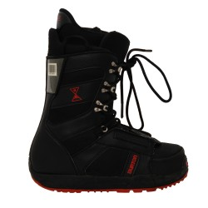 Burton used black/red progression boots