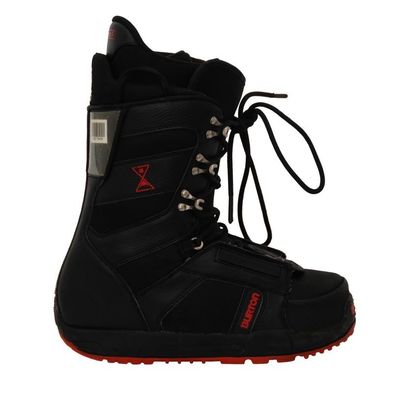 Boots occasion Burton progression noir/rouge qualité A