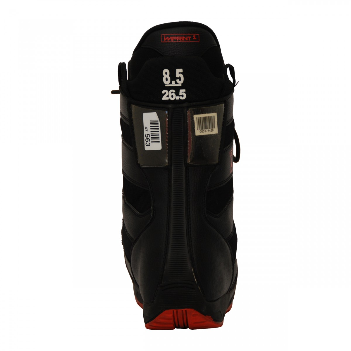 Boots-occasion-Burton-progression-noir-rouge miniature 3