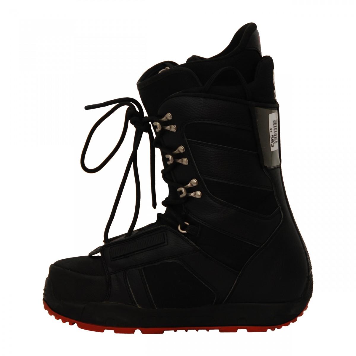 Boots-occasion-Burton-progression-noir-rouge miniature 4