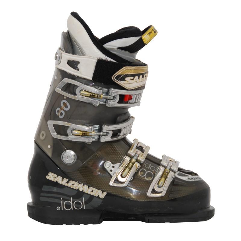 chaussures de ski occasion femme salomon idol 880 blanc bleu