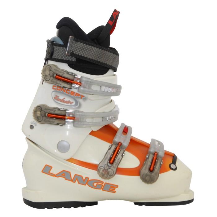 Lange gebraucht Skischuhe exklusives Beige/Orange Konzept