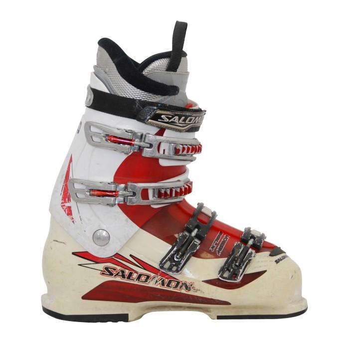 Bota de esquí usada Salomon misión 770/880 blanco/rojo
