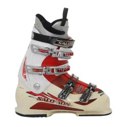 Chaussure de ski occasion Salomon mission 770/880 blanc/rouge