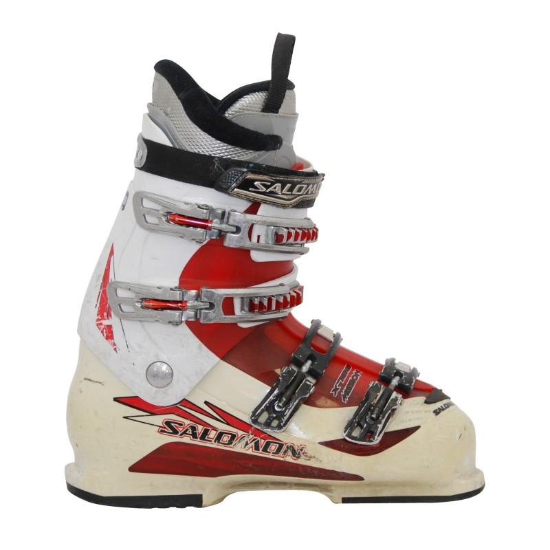 Chaussure de ski occasion Salomon mission 770 blanc/rouge qualité A