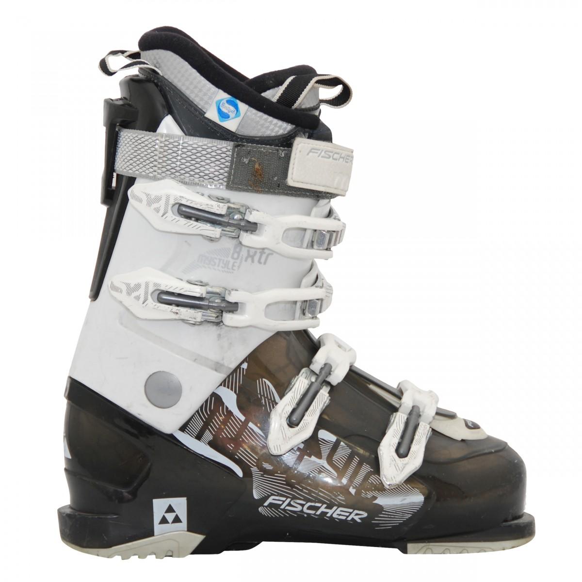 Détails sur Chaussure de ski occasion Fischer xtr 8 my style noir et blanc