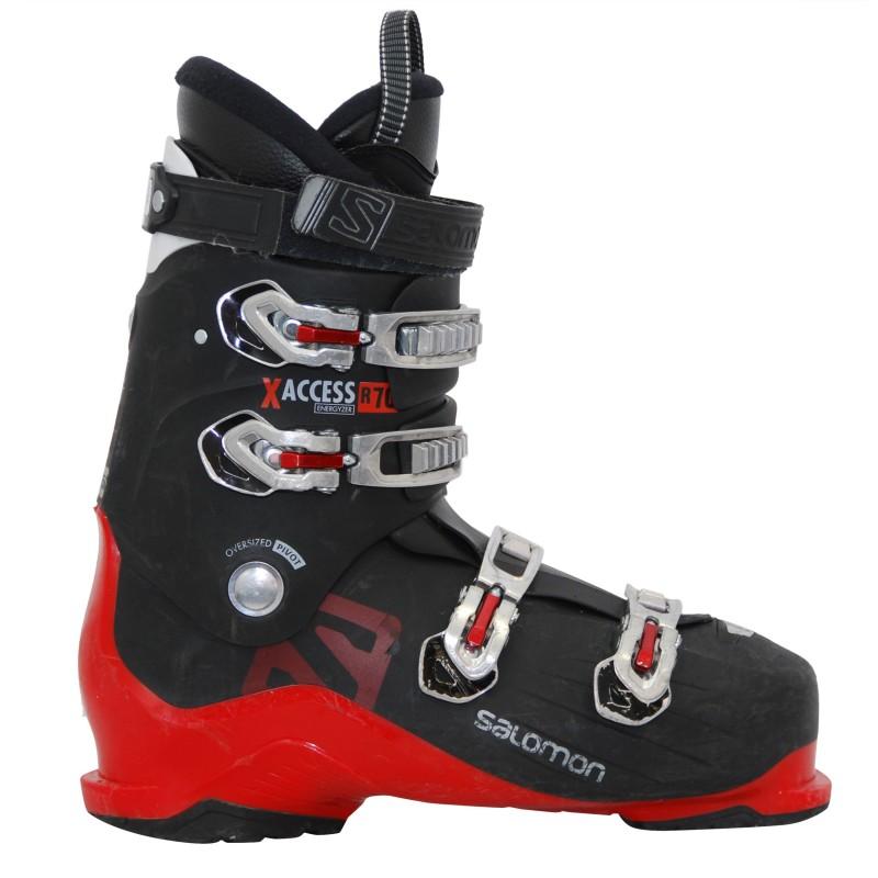 Chaussures de ski occasion Salomon X access r70 noir rouge qualité A