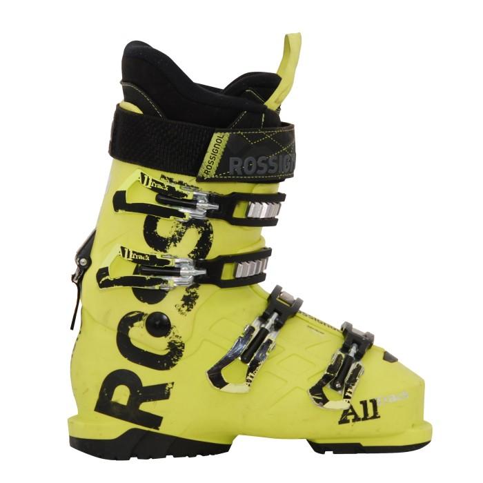 Junior used ski boot Rossignol All track yellow