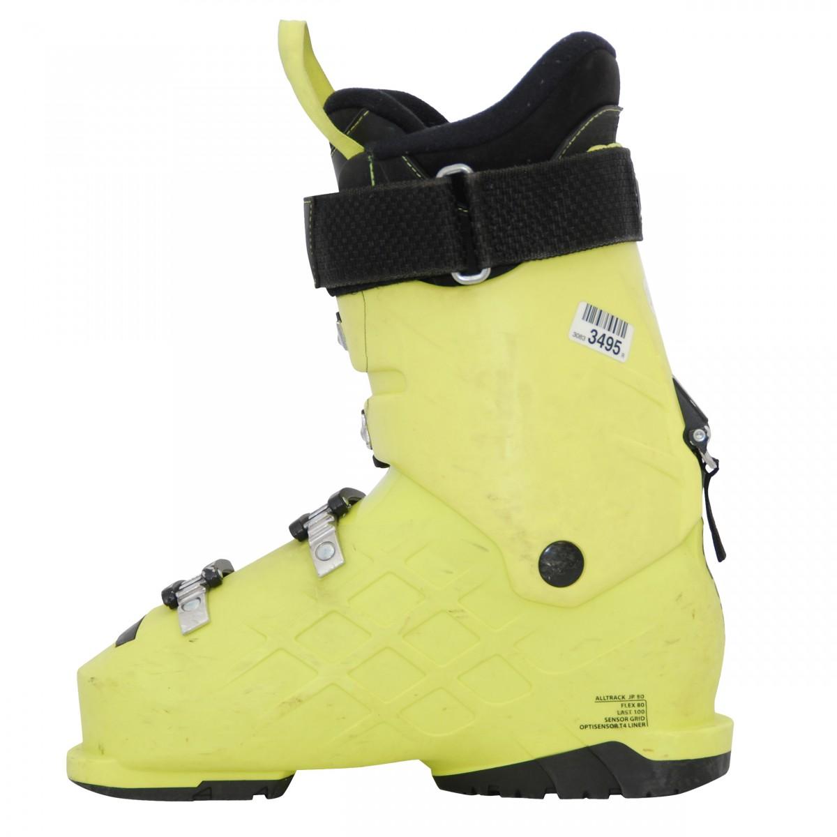 Chaussure-de-ski-occasion-junior-Rossignol-All-track-jaune miniature 4