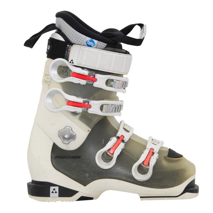 Zapato de esquí usado Fischer RC pro xtr 80 w blanco/trans/rosa