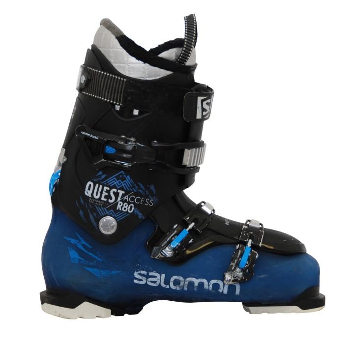 Botas de esquí usadas Salomon Quest acceso R80 negro azul