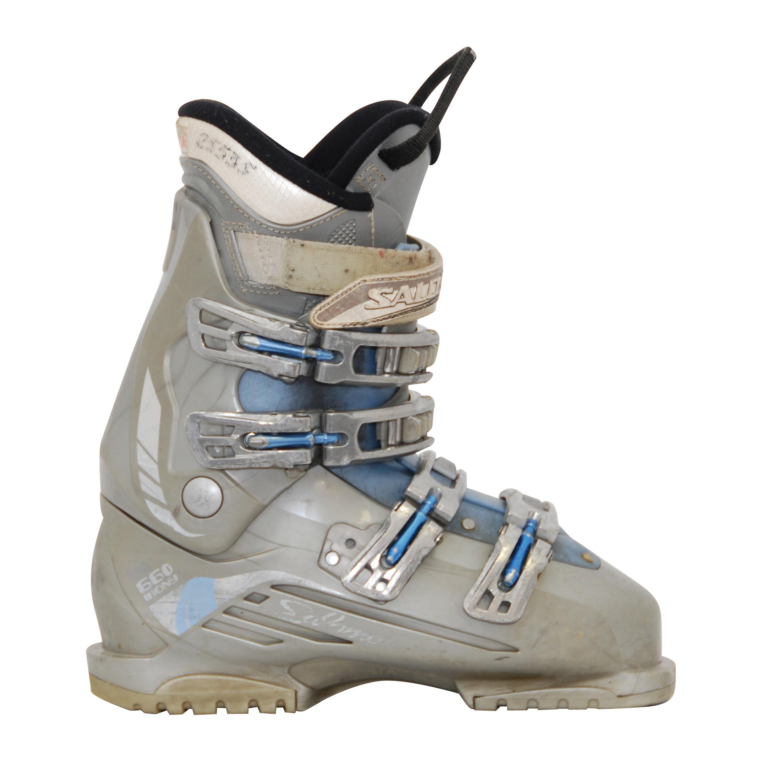 Chaussure de ski occasion Salomon performairony gris bleu