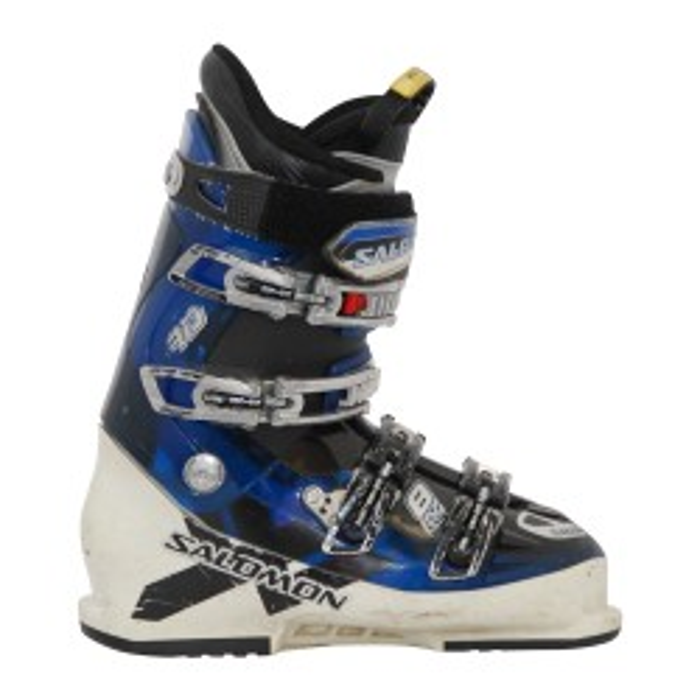 La bota de esquí Salomon impact 8 blanco / azul