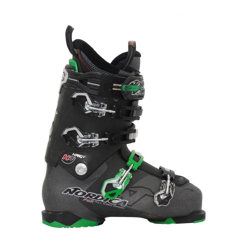 Chaussures de ski occasion Nordica Hell and back h2 noir et vert