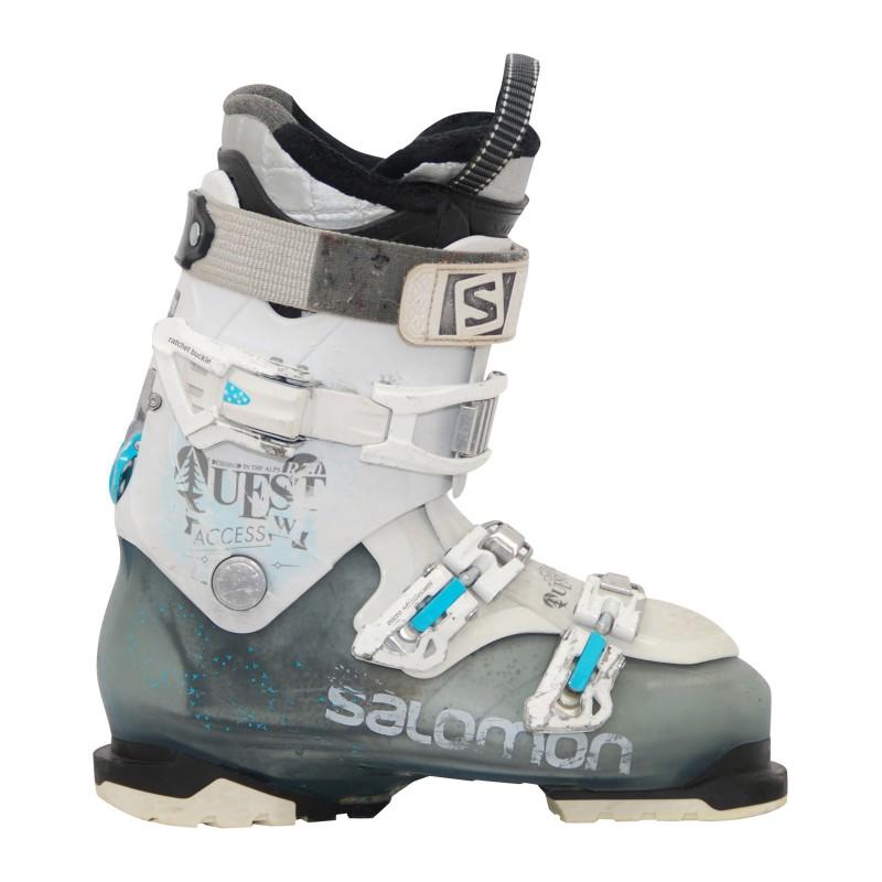 Chaussures de ski occasion Salomon Quest acces 80 noir/rouge