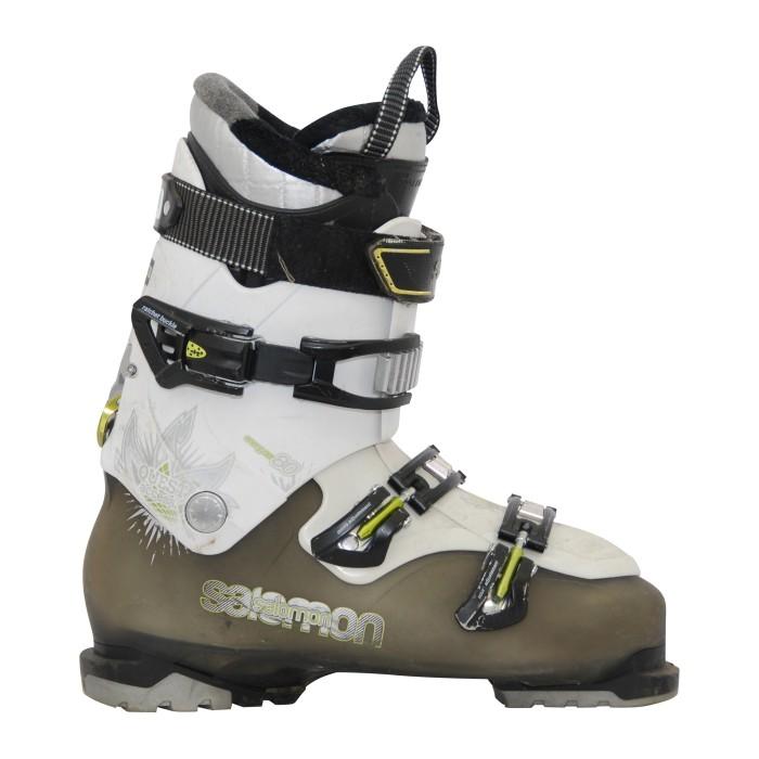 Ski boot used Salomon quest access 80 khaki/white black/white