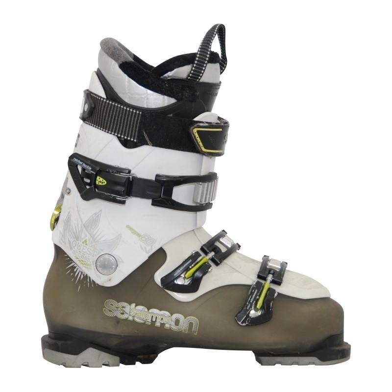 Chaussure de ski Occasion Salomon quest access 80 kaki/blanc noir/blanc 2ème choix