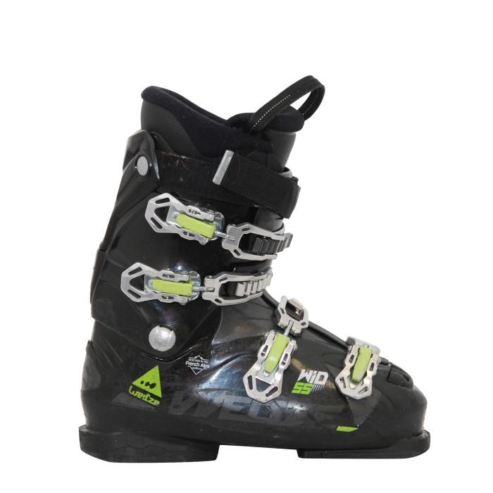 Used ski boot wed'ze wid 55 black green