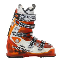 Chaussure de ski Occasion Salomon impact 120 + orange blanc
