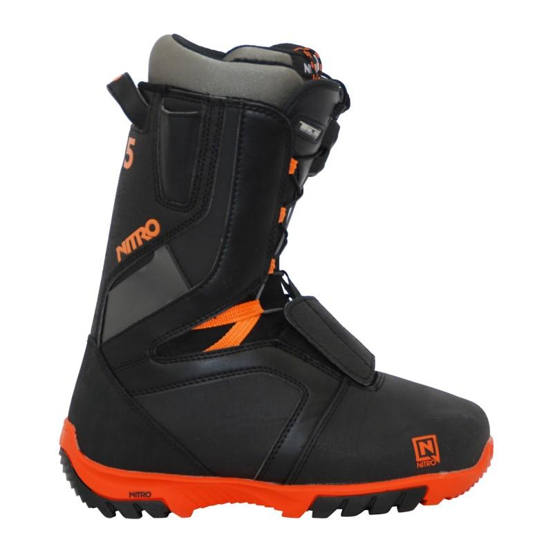 Boots occasion de snowboard occasion Nitro rental TlS noir orange qualité A