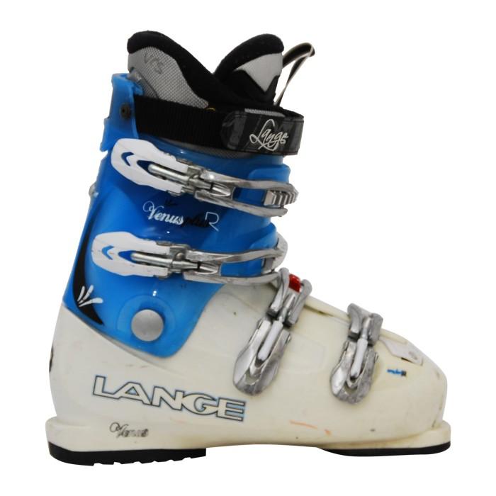 Lange Venus + R beige / blauer Skischuh