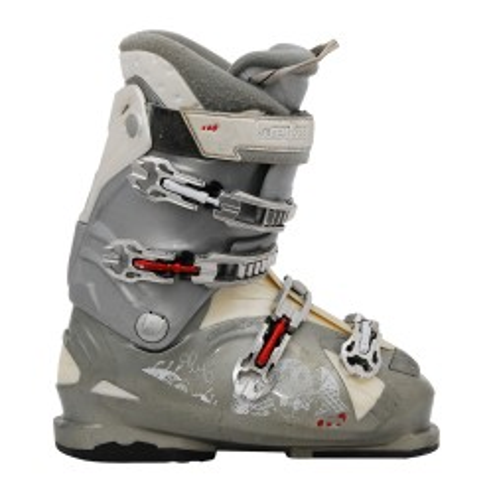 bota de esquí wed'ze aluminium 10 gris