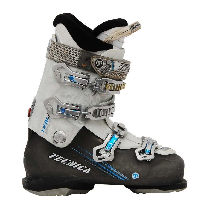 Chaussures de ski occasion Tecnica ten 2 85 rt blanc/gris/bleu qualité A
