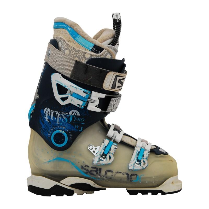 Chaussure de ski Occasion Salomon quest 80 pro w bleu/gris qualité A