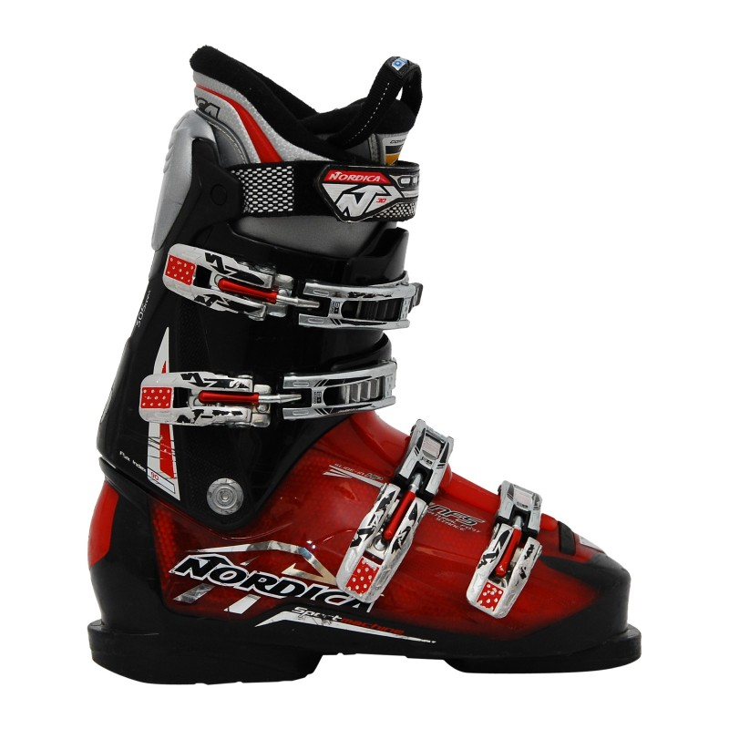 Chaussure ski occasion Nordica Sportmachine rouge