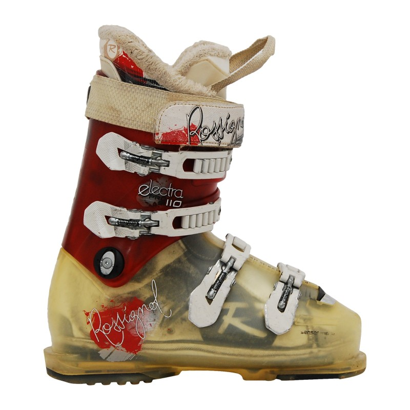 Chaussure de ski Occasion Rossignol Electra pro SI 110 rouge/beige qualité A