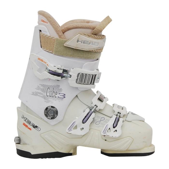 Zapato de esquí Ocasión Cabeza cubo 3 w blanco