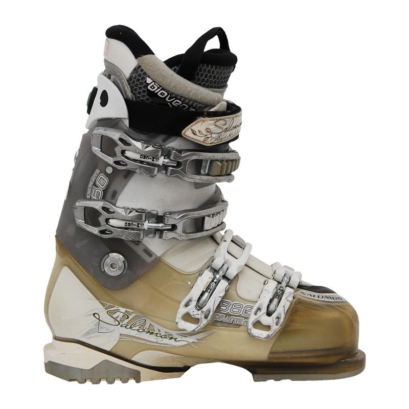 Chaussure de ski occasion Salomon Divine 880 gris/beige qualité A