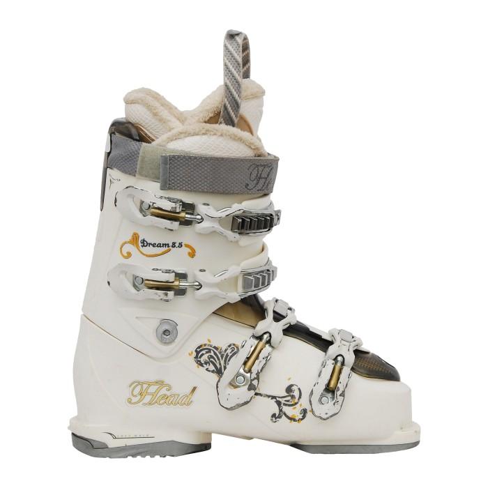 Zapato de esquí Ocasión Cabeza sueño 8.5 blanco