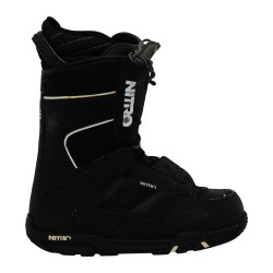 Black and white Nitro snowboard boots