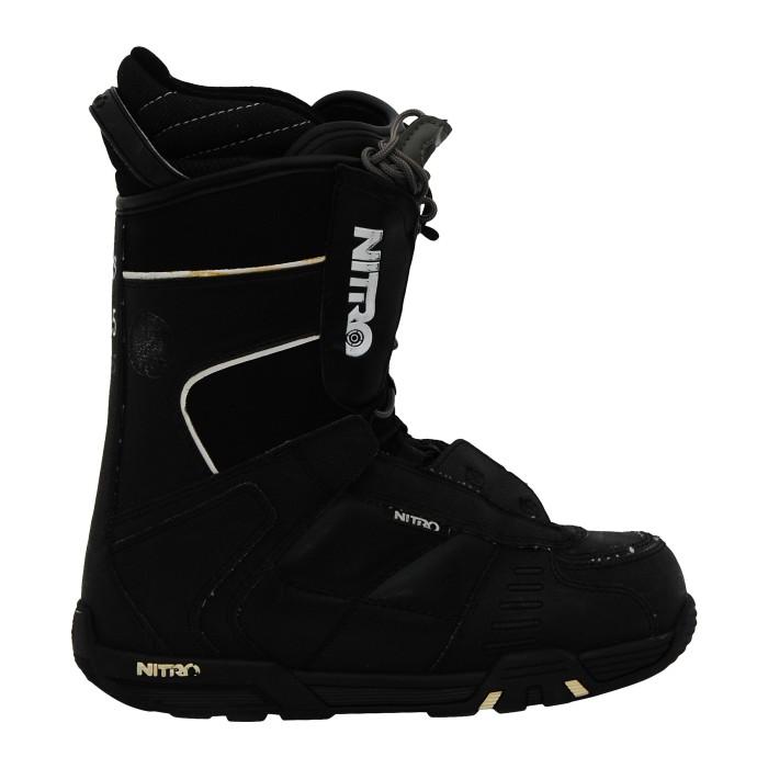 Boots de snowboard occasion Nitro rental TLS noir