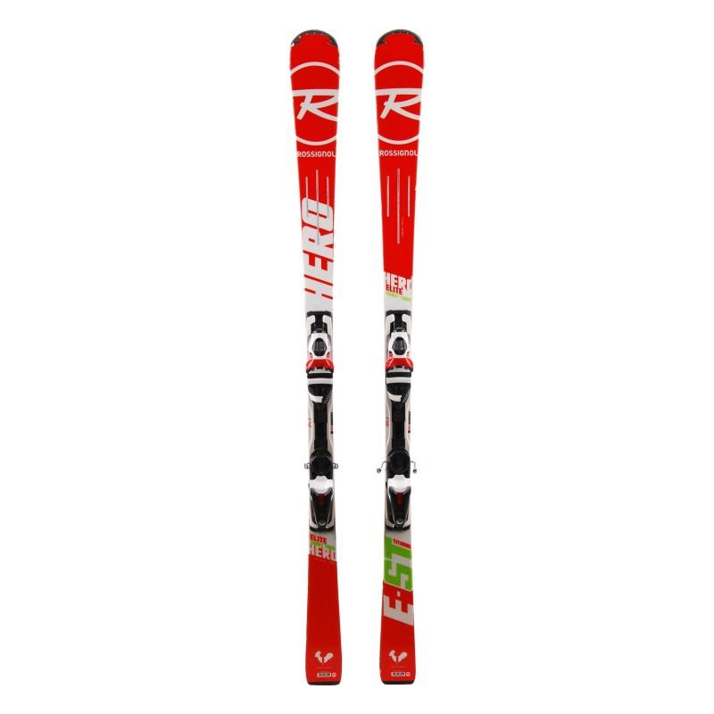 Ski Rossignol Hero Elite ST TI occasion Qualité A + fixations