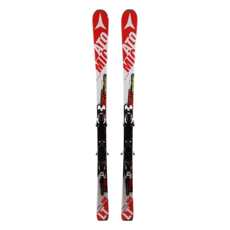 Used ski Atomic Redster LT red / white + bindings