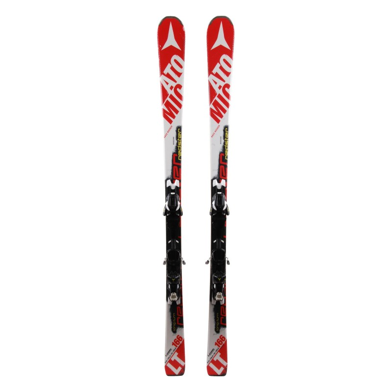 Esquís usados Atomic Redster LT rojo / blanco + fijaciones
