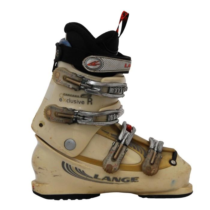 Lange Concept exklusive R beigefarbene Skischuhe