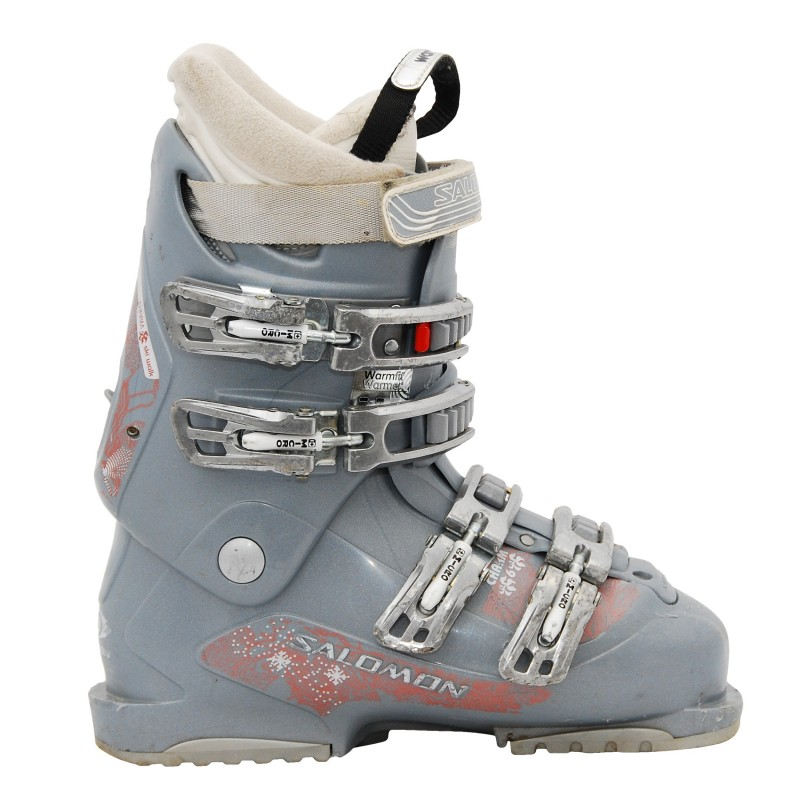 Chaussures de ski occasion Salomon charm gris/bleu qualité A