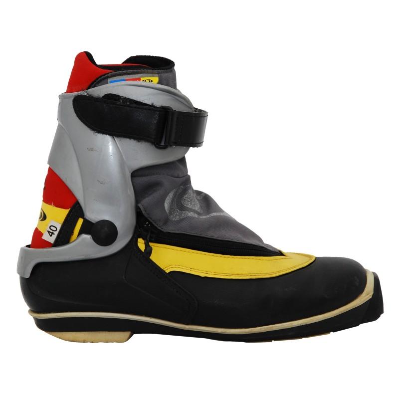 Chaussure fond occasion Skating SALOMON skate yellow + fixation SNS profil