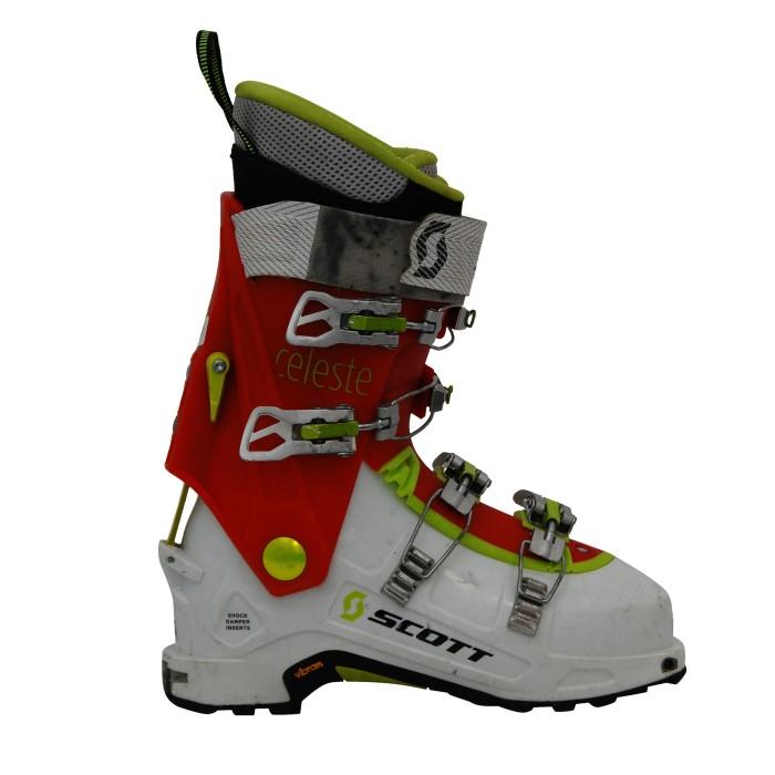 Chaussure ski Rando occasion Scott Celeste rouge blanc