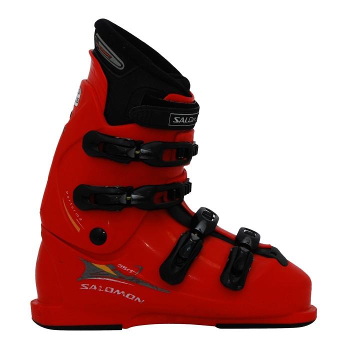 Gebrauchter Skischuh Salomon führt 650 rot