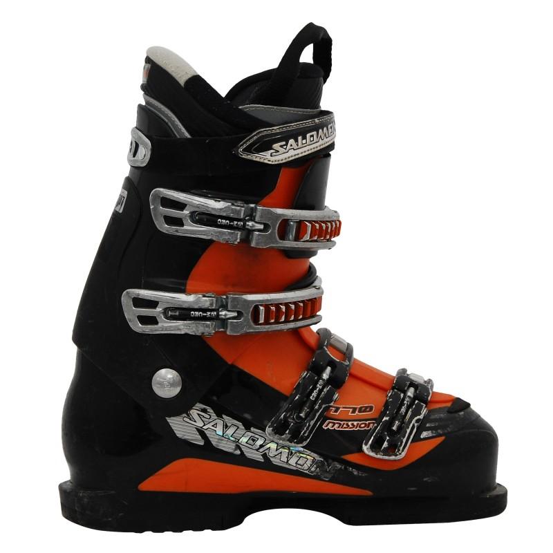 Chaussures de ski ocasion Salomon mission 770 noir/orange qualité A