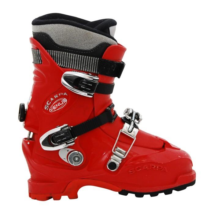 Chaussure de ski occasion de randonnée Scarpa Venus rouge