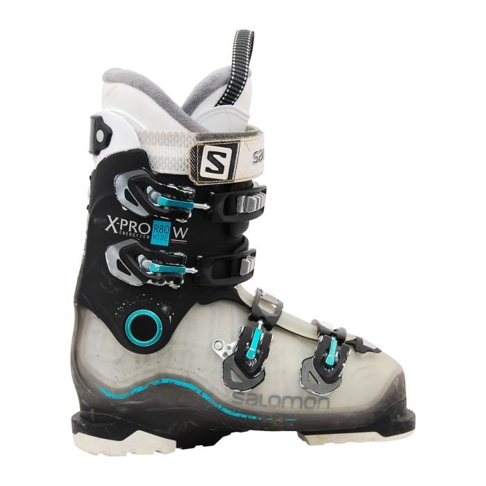 Chaussures de ski occasion Salomon xpro r80w noir/translucide/bleu