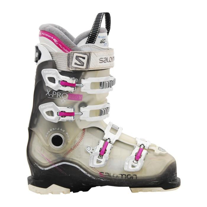 Bota de esquí usada Salomon Xpro r80w rosa translúcido