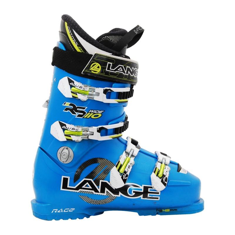 Chaussure de Ski Occasion Lange RS 110 wide bleu Qualité A