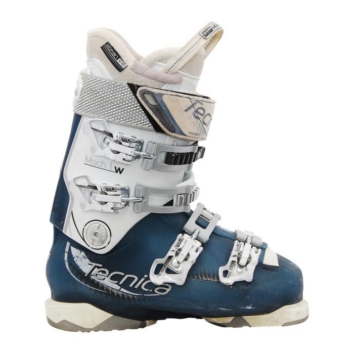 Chaussure de Ski Occasion Tecnica Mach 1 w blanc bleu
