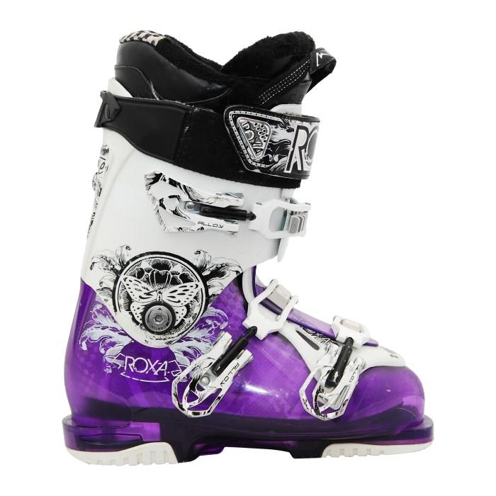 Roxa Kate usado zapato de esquí 9.5 púrpura blanco